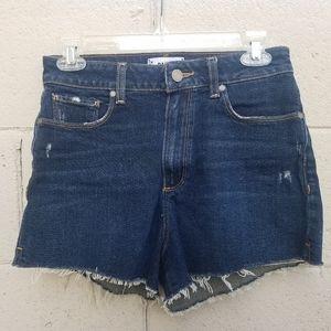 Paige Denim High-Rise Shorts